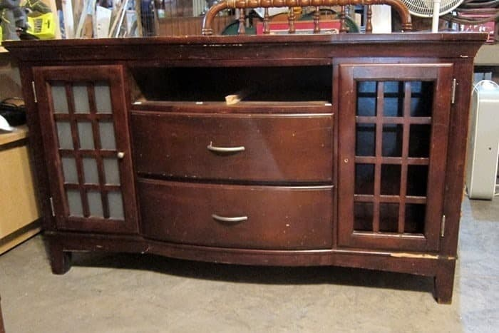 Large entertainment center needs repairs and a paint makeover