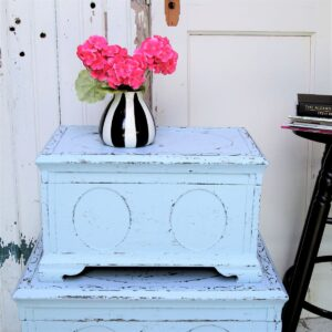 Make painted furniture look distressed without sanding