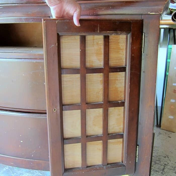 furniture cabinet door missing glass