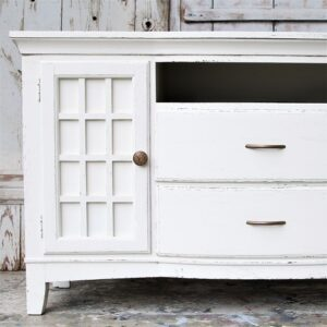 How to paint fake wood furniture with latex paint.