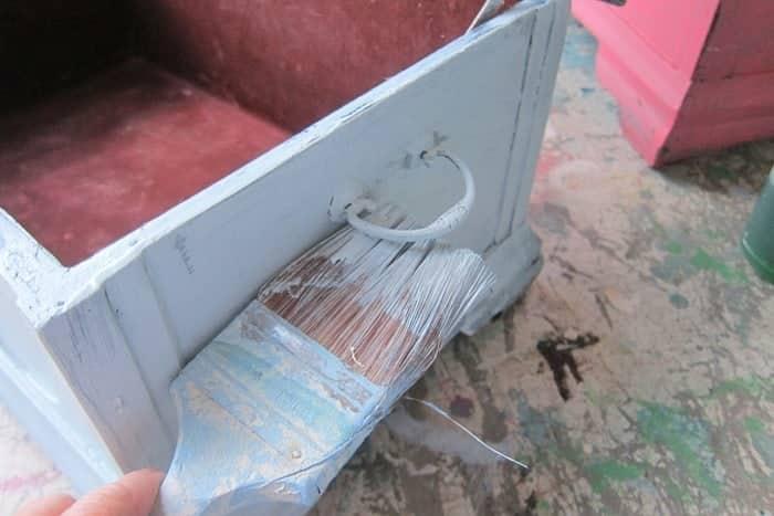 painting furniture hardware