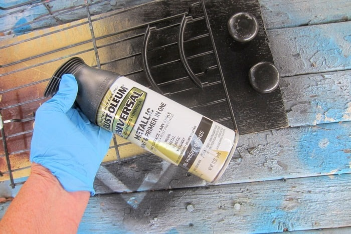 spray paint furniture hardware