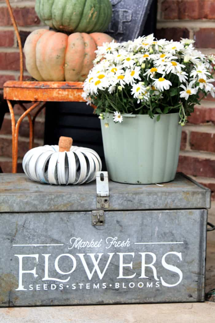 how to decorate flower containers with Chalk Couture transfers