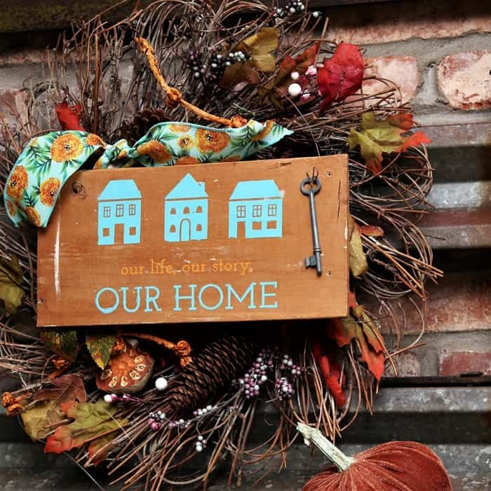 how to make a rustic home decor wall sign