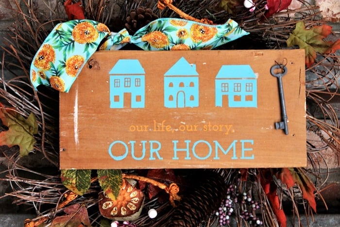 rustic our home wall sign made with a Chalk Couture Transfer (2)